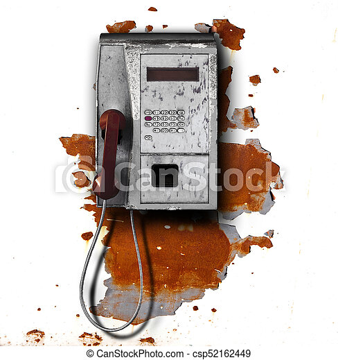 public phone on metal background - csp52162449