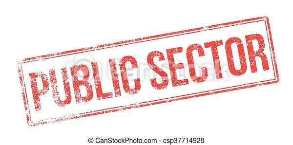 Public Sector red rubber stamp on white - csp37714928