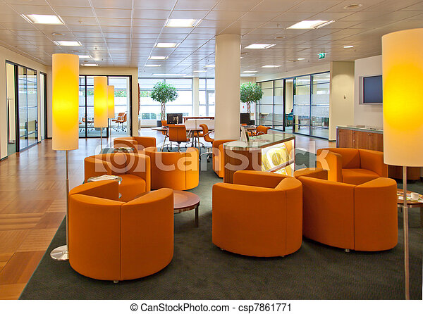 public space in bank office - csp7861771