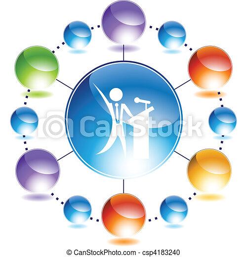 Public Speaker - csp4183240