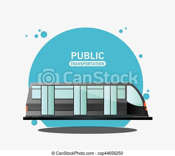 public transport electric train - csp44656250
