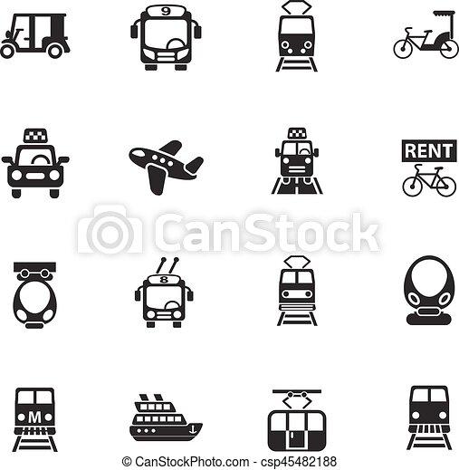 public transport icon set - csp45482188