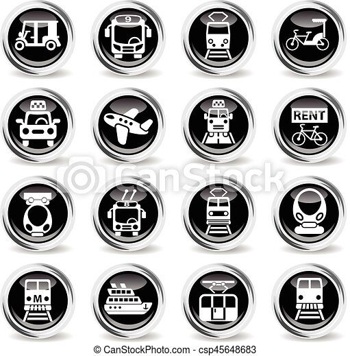 public transport icon set - csp45648683