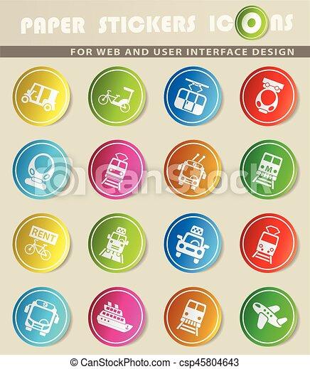 public transport icon set - csp45804643