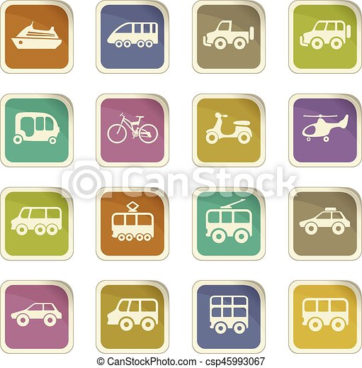 Public transport icons set - csp45993067