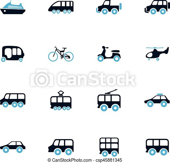 Public transport icons set - csp45881345