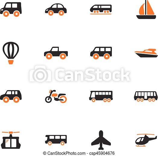 Public transport icons set - csp45904676