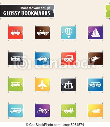 Public transport icons set - csp45954574