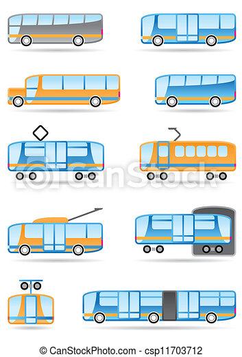 Public transport icons set - csp11703712