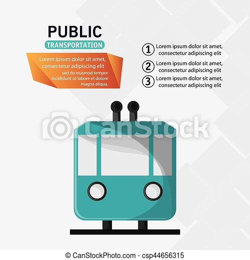 public transport railway cable - csp44656315