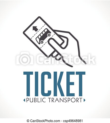 Public transport ticket logo - bus - csp49648981