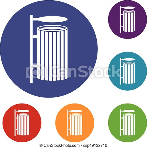 Rubbish Bins Waste Paper Baskets Puter Icons Recycling Bin Trash Can No Attribution