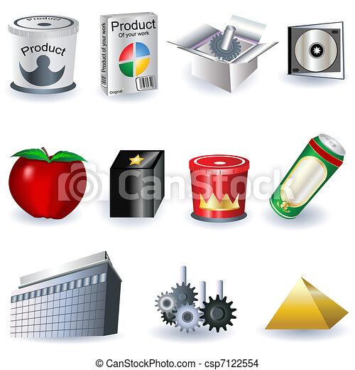 Publicidad de iconos - csp7122554