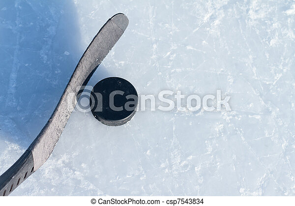 puck, hockey klibbar - csp7543834