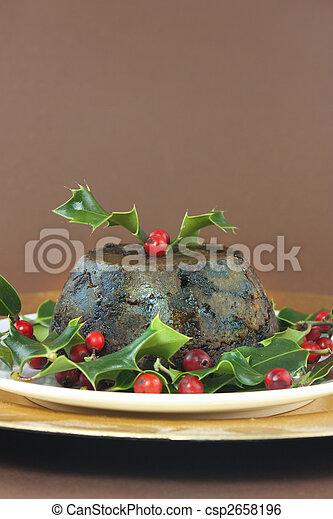 pudding de Navidad - csp2658196