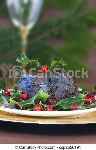 pudding de Navidad - csp2658191