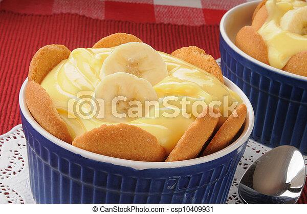 pudín de plátano - csp10409931