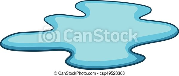 puddle of water icon cartoon style puddle of water icon clip rh canstockphoto com clip art of waterfalls clip art of water spraying in face