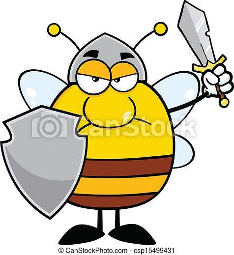 Enojada abeja guerrera - csp15499431