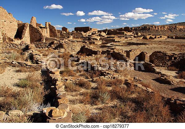 Pueblo Bonito Ruins - csp18279377