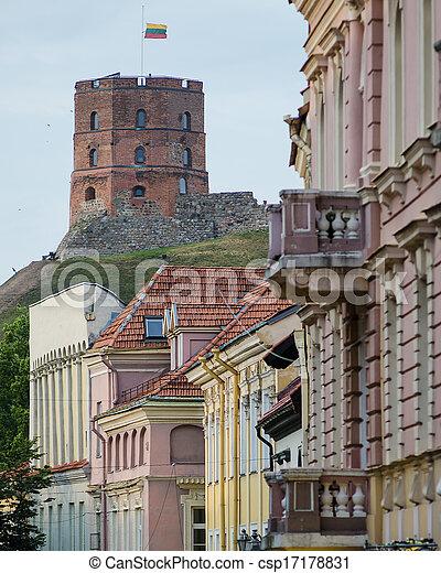 La calle de Vilnius - csp17178831