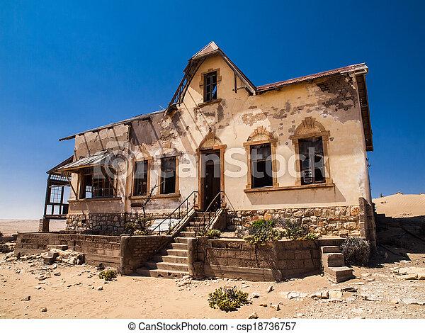pueblo fantasma, quartermaster's, kolmanskop, casa - csp18736757