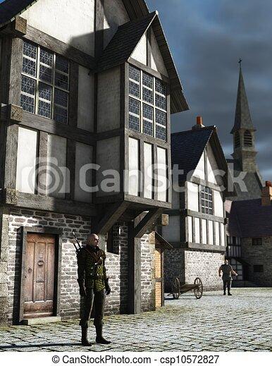 Vigilante Medieval - csp10572827