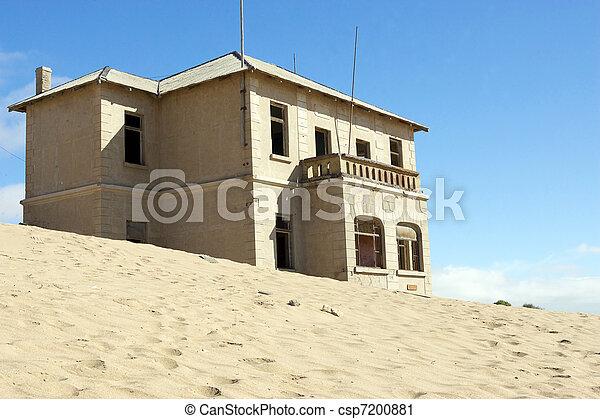 pueblo, namibia, gosth, kolmanskoppe, luderitz - csp7200881
