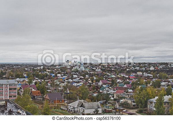 Vista de un pequeño pueblo 5925. - csp56376100