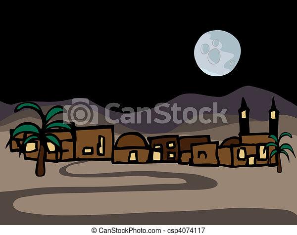 Cerca del este de la ciudad del desierto - csp4074117