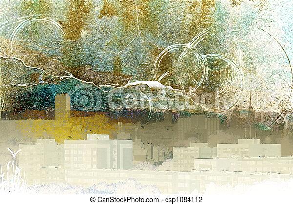 Pueblo abstracto - csp1084112