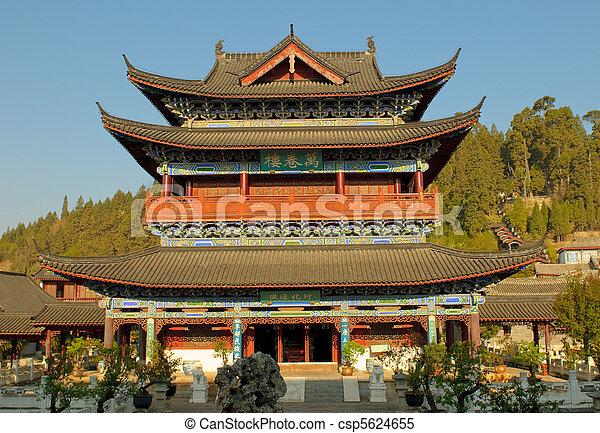 pueblo viejo, residencia, yunnan, lijiang, mu, china - csp5624655