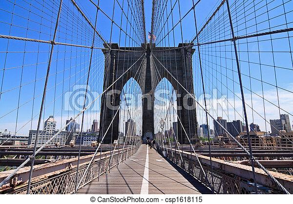 El puente de Brooklyn - csp1618115