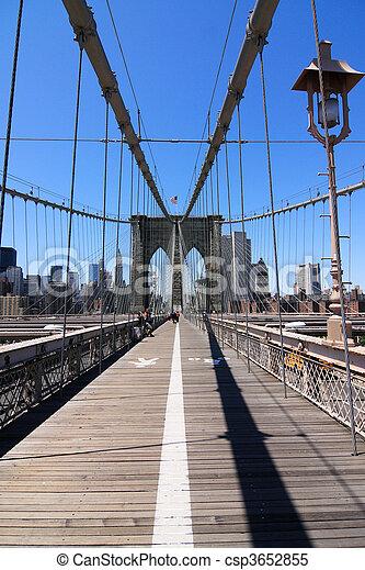 El puente de Brooklyn - csp3652855
