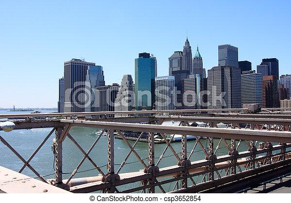 El puente de Brooklyn - csp3652854