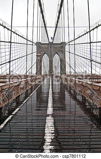 El puente de Brooklyn - csp7801112
