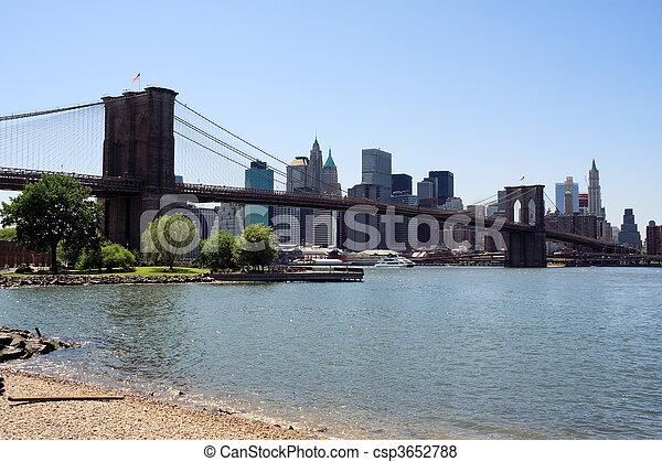 El puente de Brooklyn - csp3652788