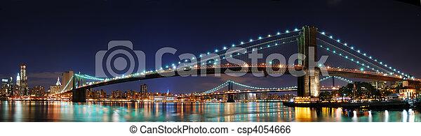 puente, brooklyn, yor, nuevo, panorama - csp4054666