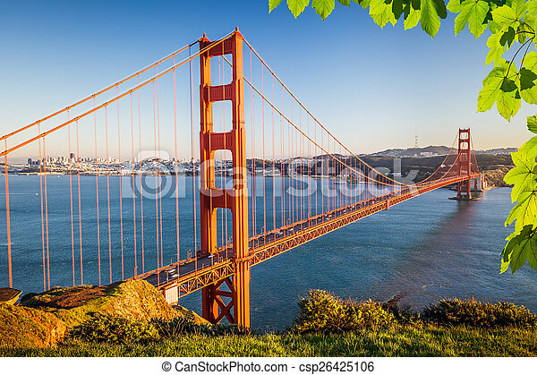 El puente Golden Gate - csp26425106