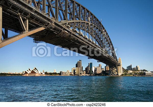 Puente del puerto de Sydney - csp2423246