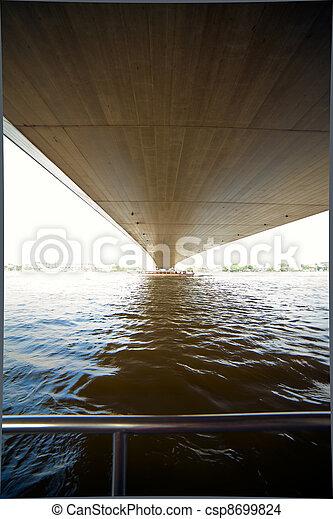Puente en un fondo del río - csp8699824