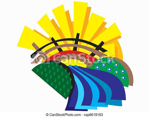 puente, resumen, campos - csp6618163