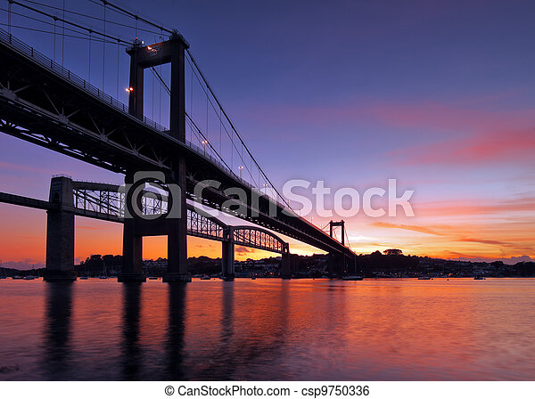 puente, tamar, silueta - csp9750336