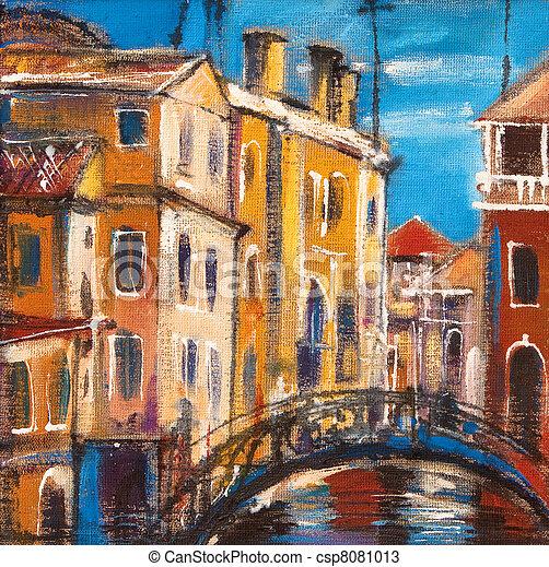 El puente de la antigua Venecia - csp8081013