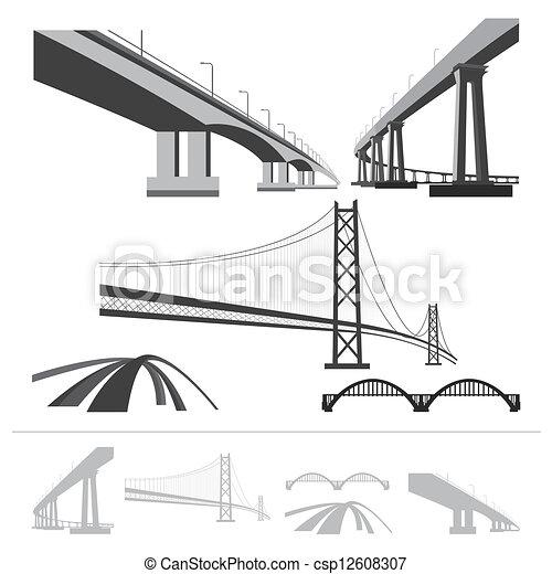 Un juego de puentes - csp12608307