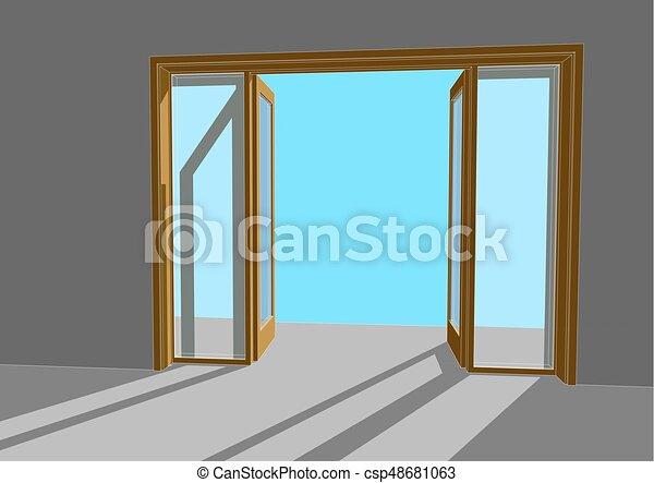 Abre la puerta - csp48681063