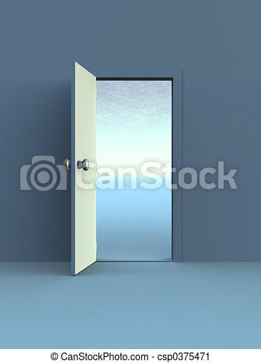 Abre la puerta - csp0375471