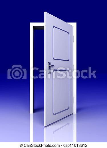Abre la puerta - csp11013612
