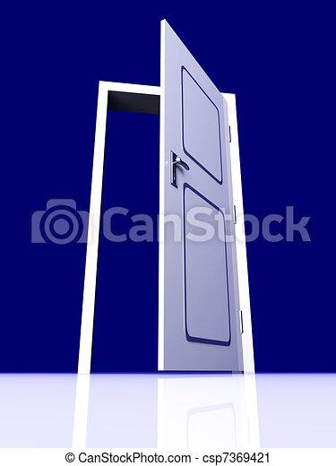 Abre la puerta - csp7369421