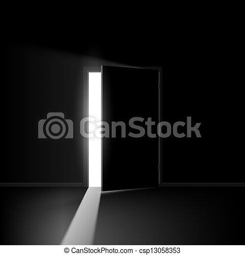 Abre la puerta - csp13058353